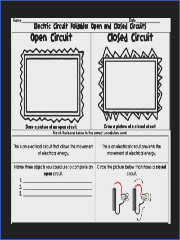 Series and Parallel Circuits Worksheet New Electric Circuit Foldable Open Closed Series and Parallel Gallery