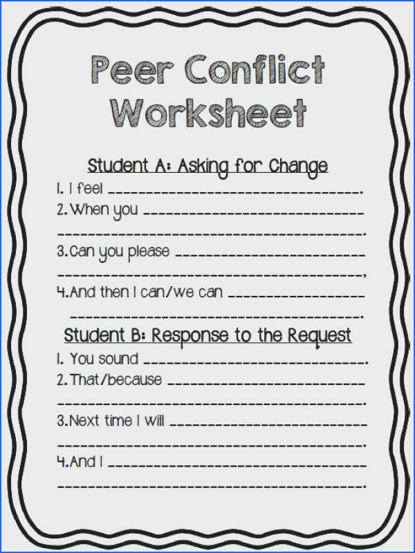 Are your students having conflict in the classroom Outside at recess At lunch Keep these conflict resolution worksheets handy
