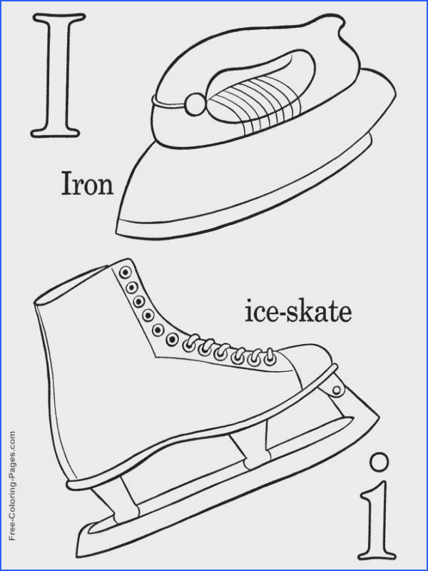 Alphabet coloring sheets I is for Ice