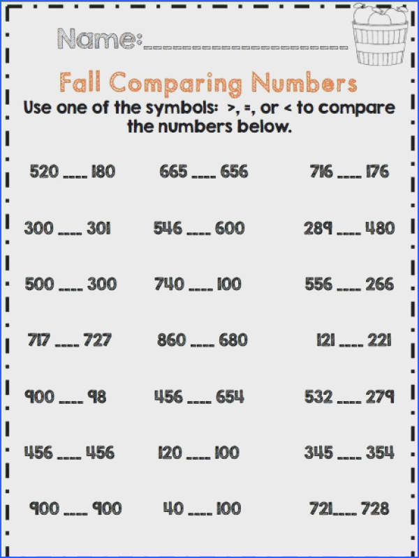 2nd grade fall paring numbers mon core aligned
