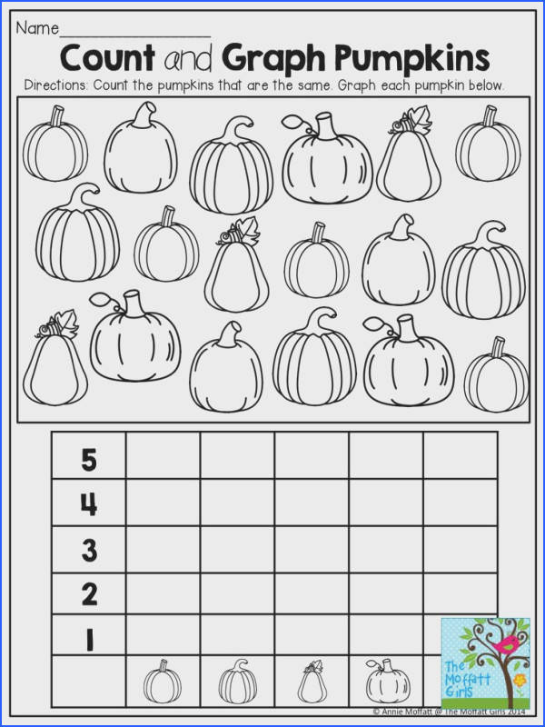 Math Counting puting Reading Visual Perception Graphing Pumpkins and TONS of other fun printable pages