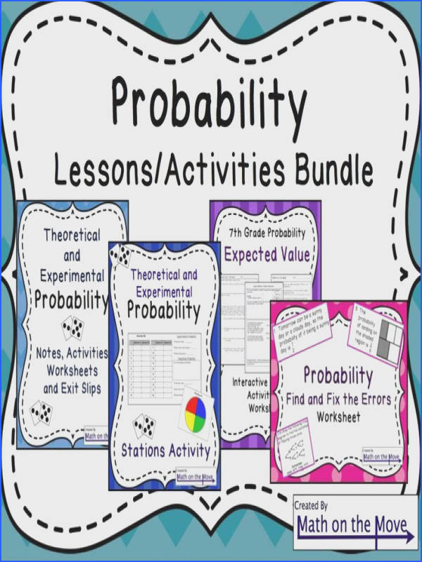 Probability Bundle Lessons Activities and Worksheets