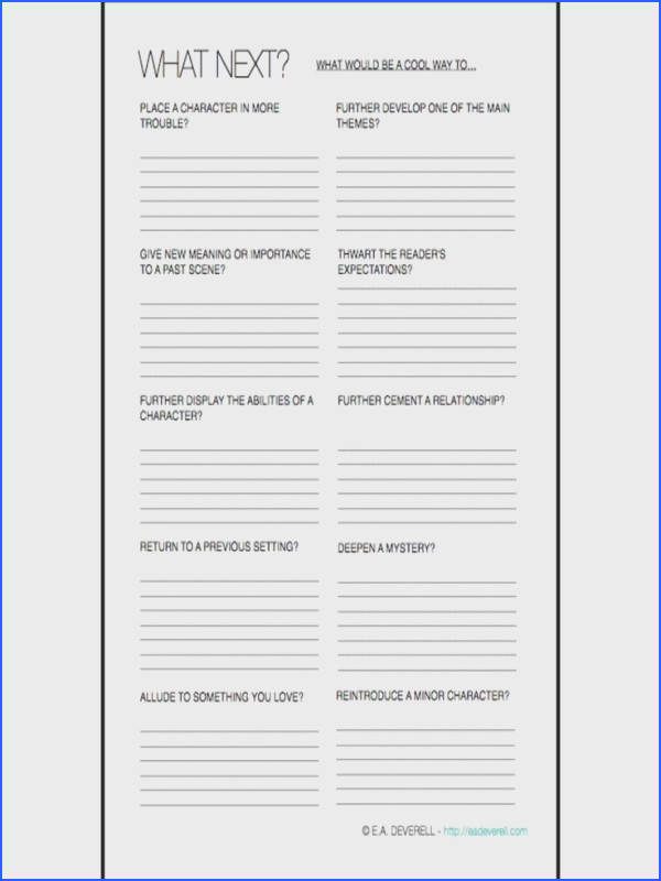 Plan What Happens Next Worksheet