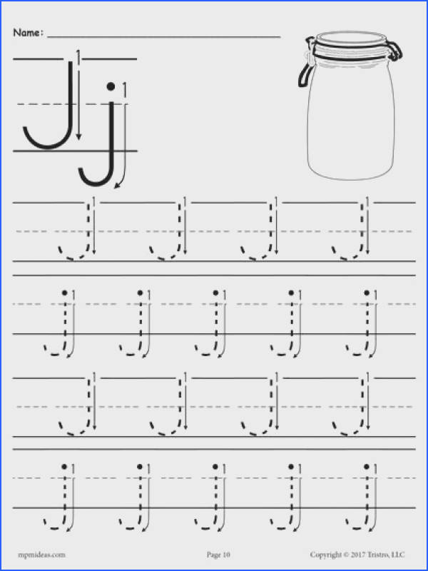 Free Letter J Tracing Worksheet