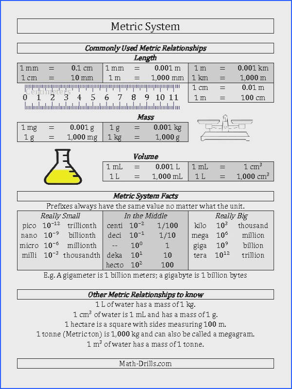 Measurement Worksheet Metric System Conversion Guide