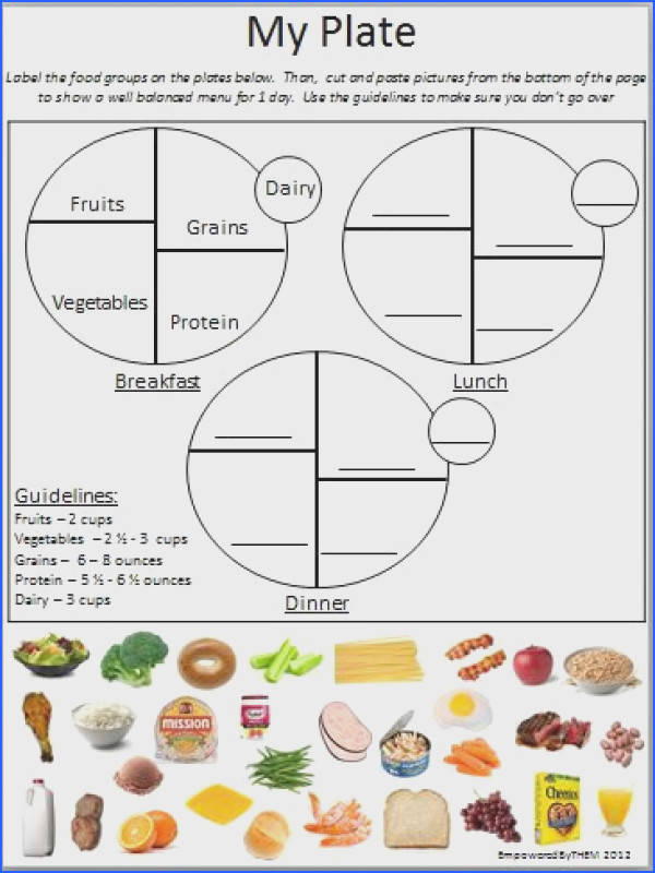 Nutrition WOW what a find Loving this My Plate Cut and Paste Activity Sheet