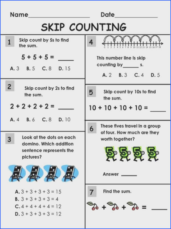 Skip Counting Packet 2s 3s 5s 10s and 100s Worksheet Printables