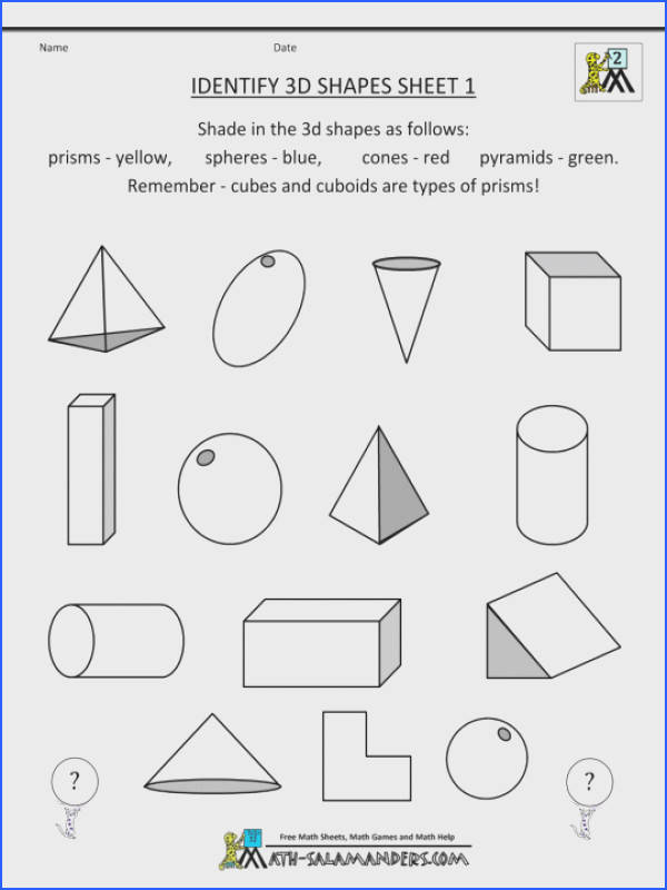 2nd Grade Geometry Identify Shapes Mathets High School Free 6th Word Problems Math Worksheets Worksheet For
