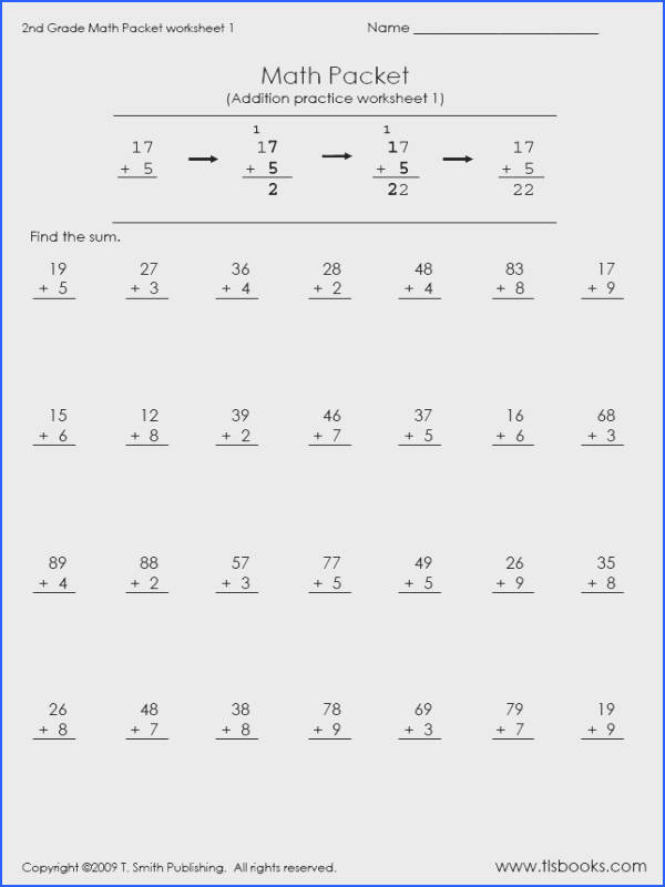 2Nd Grade Math Addition Worksheets for all Download and Worksheets