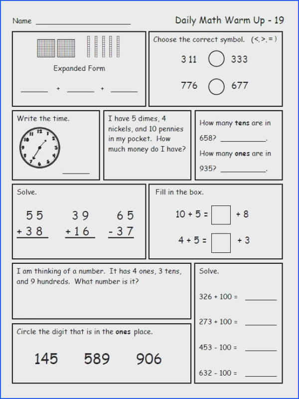 2Nd Grade Math Worksheets Mixed Worksheets for all Download and Worksheets