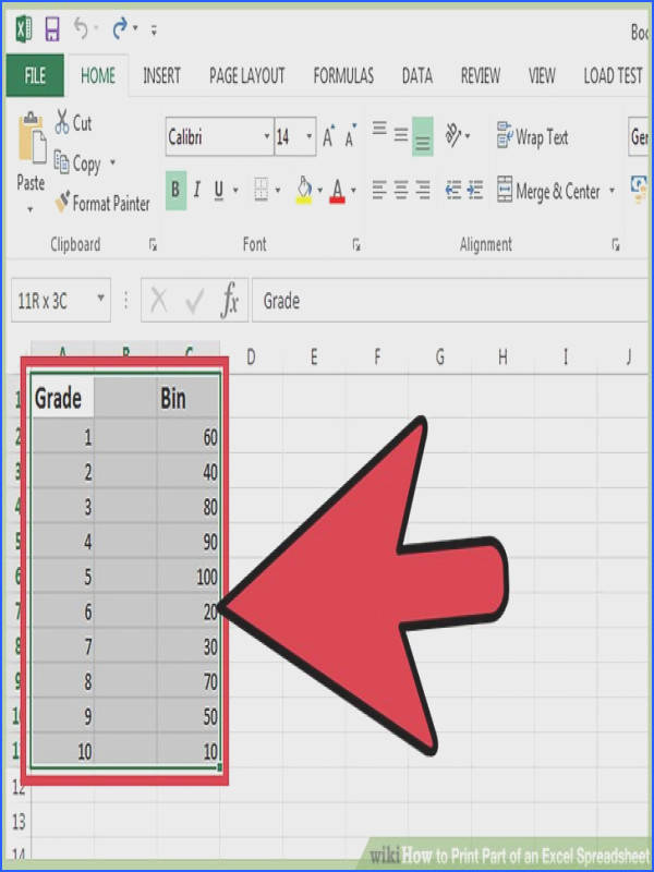 Image titled Print Part of an Excel Spreadsheet Step 2