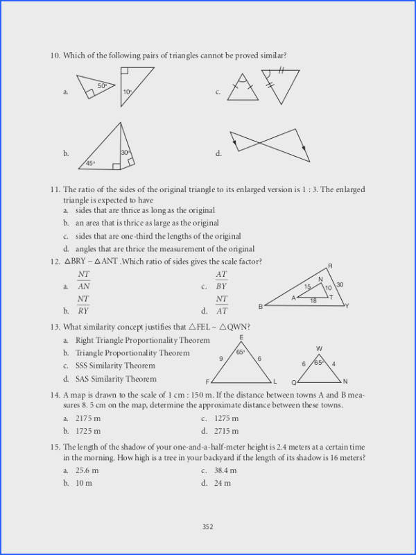 Triangle Congruence Worksheet 1 Answer Key Awesome Grade 9 Mathematics Module 6 Similarity 30 Beautiful