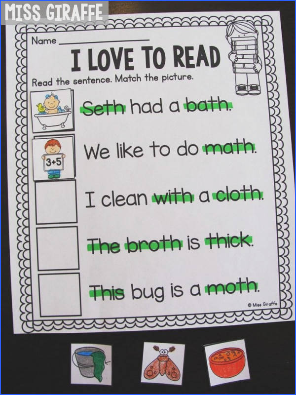 Teaching digraphs in first grade is fun with these digraphs worksheets and activities
