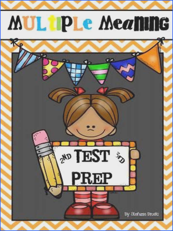 Multiple Meaning Words Test Prep 2nd or 3rd