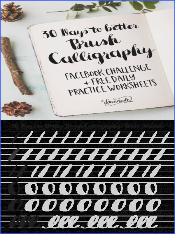 30 Days to Better Brush Calligraphy Image Below Calligraphy Worksheets
