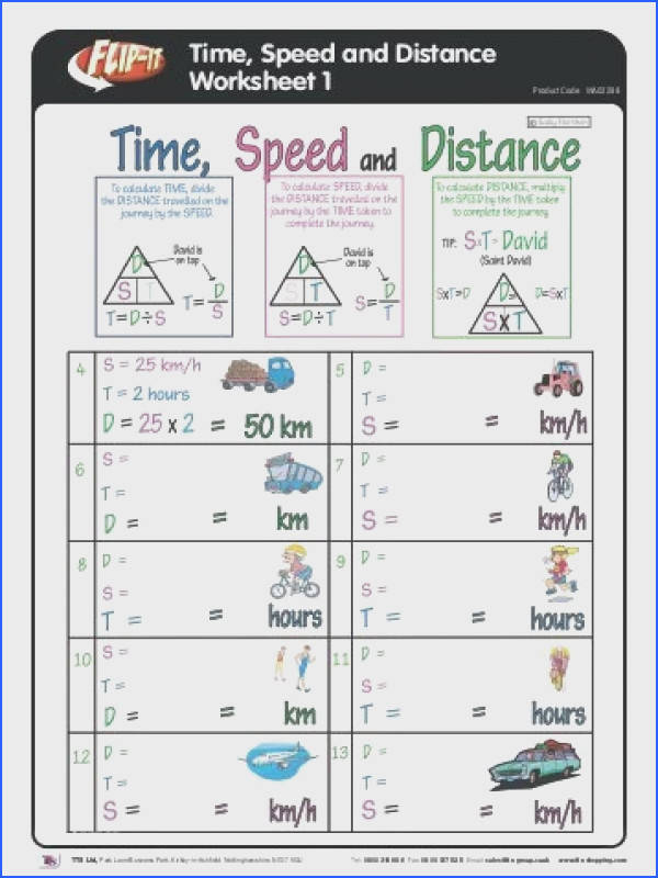 Speed Distance Time Worksheet Awesome Distance Time and Average Speed