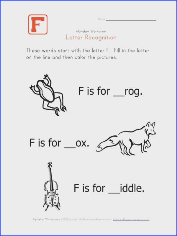 plete the words that start with letter F and then color the pictures This fun letter F worksheet is part of a full set of alphabet pages that help kids