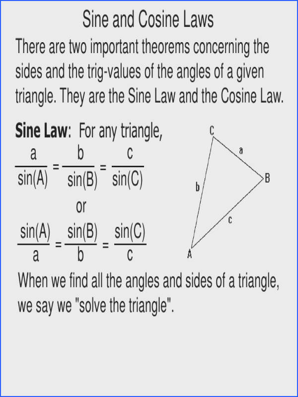 43 sine and cosine law inverse trigfunctions 11
