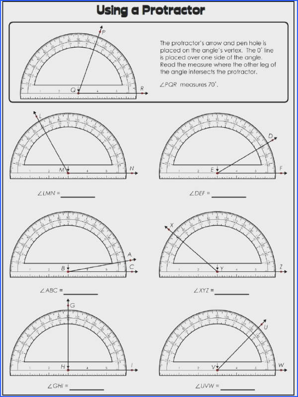 Teach students to measure angles with these protractor worksheets You re not going