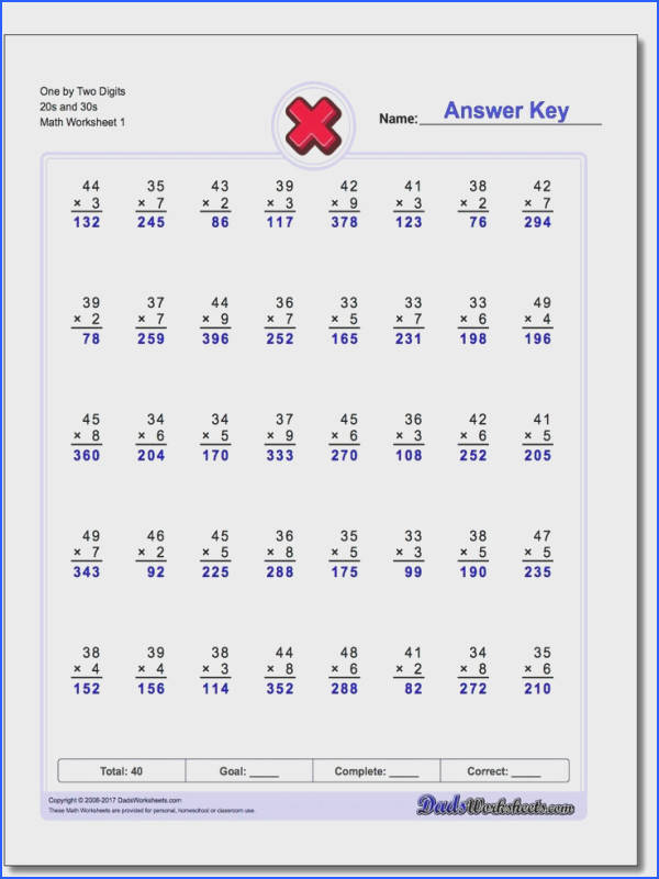 339 Best Multiplication Worksheets Images On Pinterest Image Below Multiples Worksheet