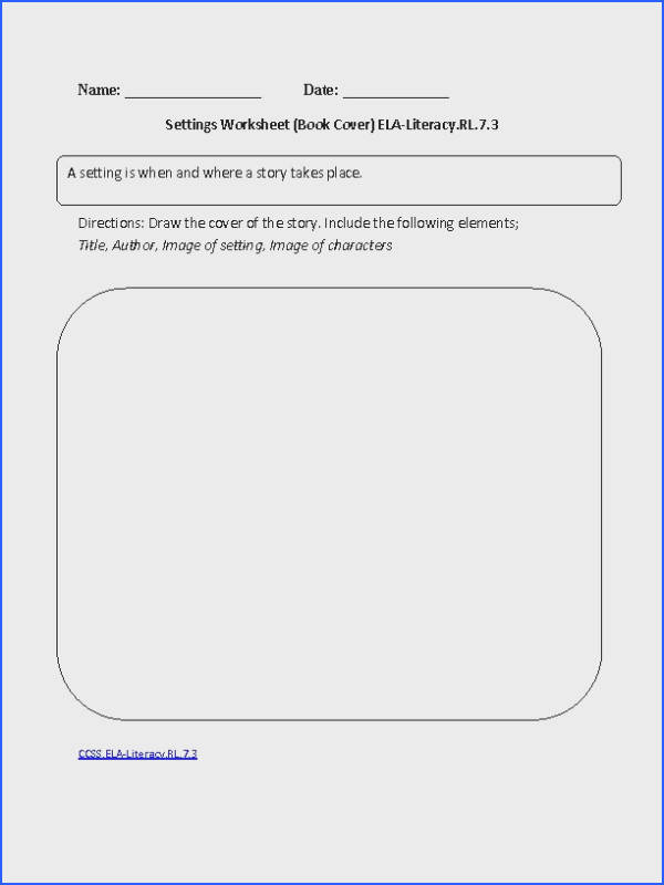English Worksheets that are aligned to the Grade mon Core Standards for Reading Literature