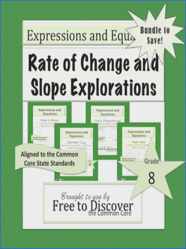 Rate of Change and Slope Explorations Bundle ly $6 for 4 activities