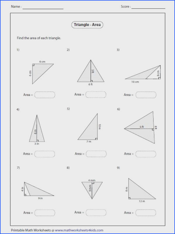 Finding area Great resource site for math worksheets