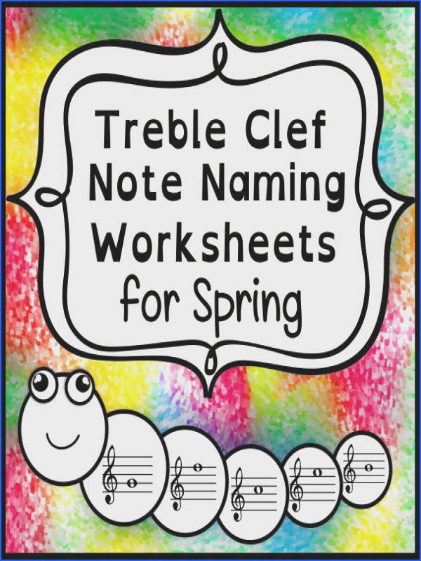 Treble Clef Note Naming Worksheets
