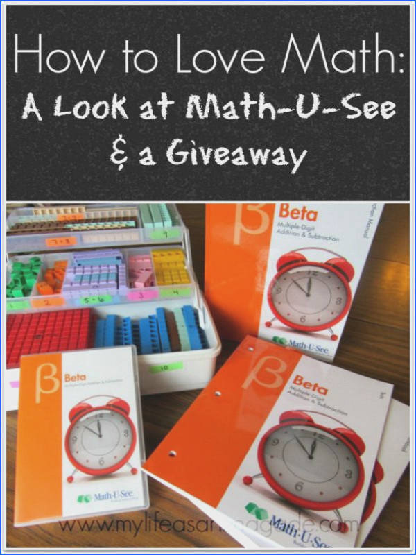 How to Love Math A Look at Math U See & a Giveaway