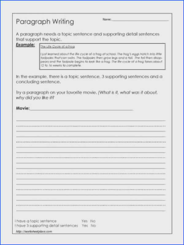 Paragraph Writing Worksheets Mychaumecom