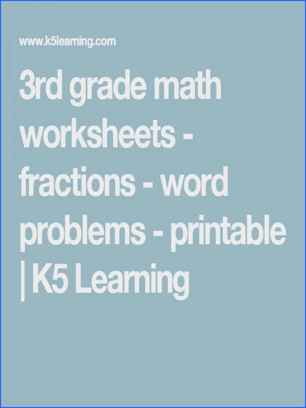 3rd grade math worksheets fractions word problems printable