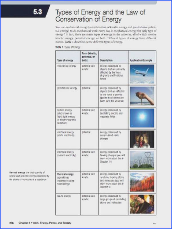 Here s a packet of information on types of energy and the law of conservation of energy
