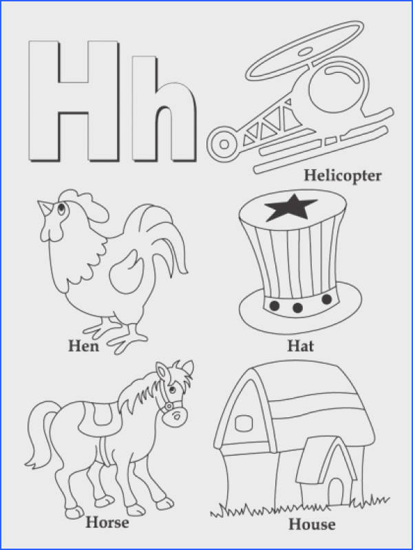 Letter H coloring page