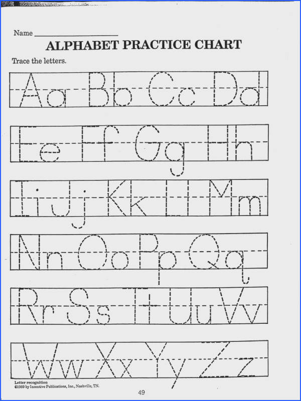Free Printable Abc Worksheets For Preschool Preschool Alphabet Worksheets A Z letter tracing worksheets on