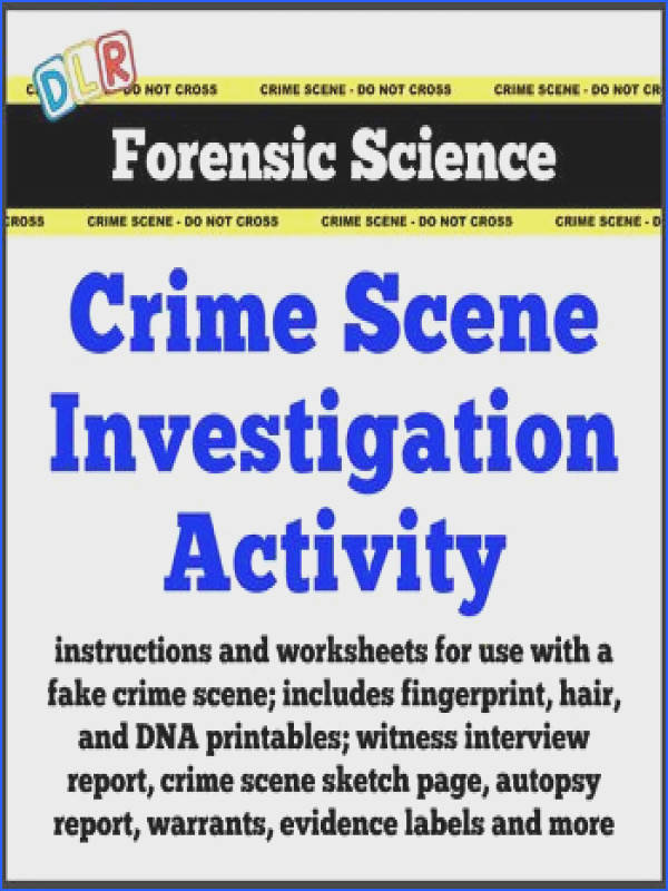 Crime Scene Investigation ActivityCrime scene printables information pages activity worksheets review worksheets