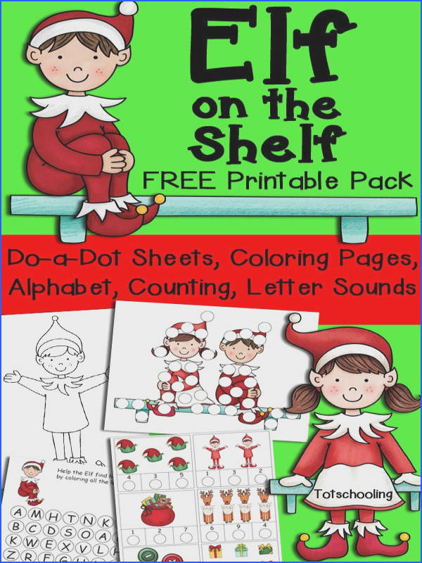 Elf on the Shelf Printable Pack for Kids