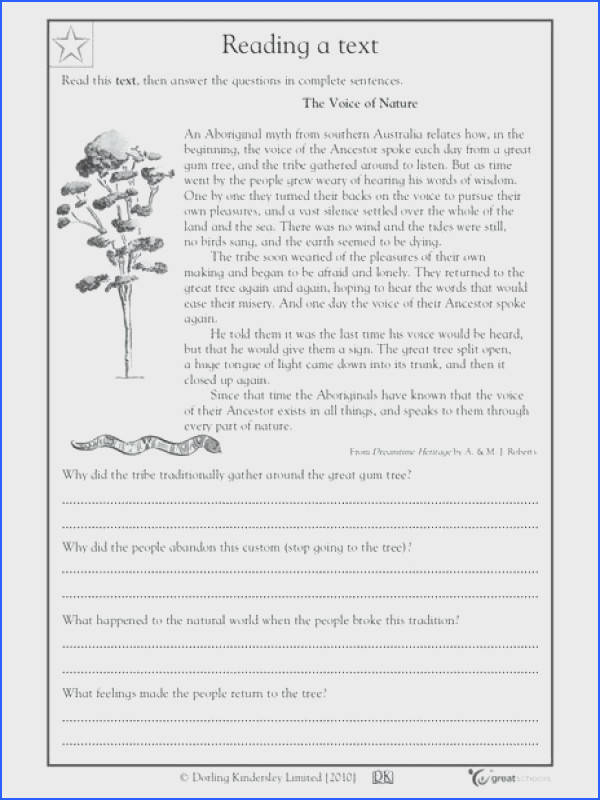 4th grade ela worksheets plus reading prehension voice of nature grade worksheet lesson planet amazing 4th