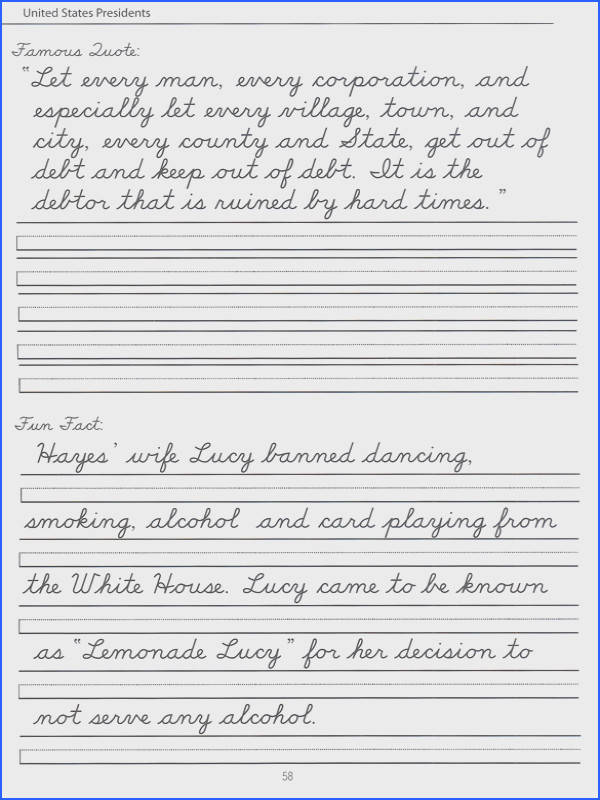 Writing 4th grade cursive writing worksheets