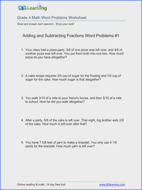 4Th Grade Math Problem Solving Worksheets Worksheets for all Download and Worksheets