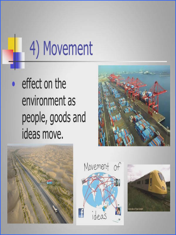 7 4 Movement effect on the environment as people goods and ideas move