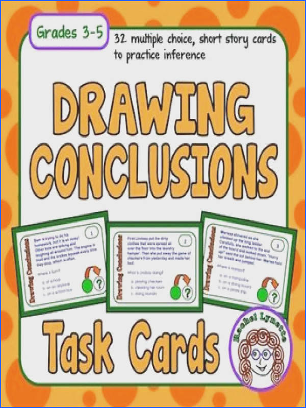 Drawing Conclusions Task Cards Inference Skills Practice with Digital Option