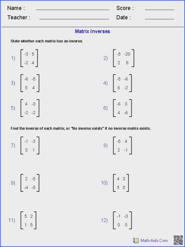 50 Best Math Log Et Expo Images On Pinterest Image Below Matrices Worksheets