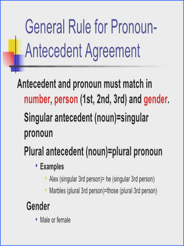 Pronoun Antecedent Agreement Worksheet Awesome Pronoun Antecedent Agreement Lessons Tes Teach