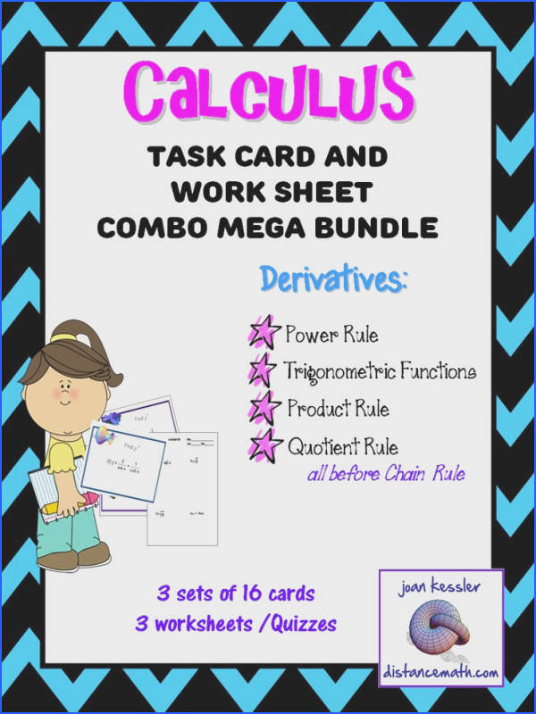 Calculus Derivatives Task Cards plus HW Before the Chain Rule Bundle