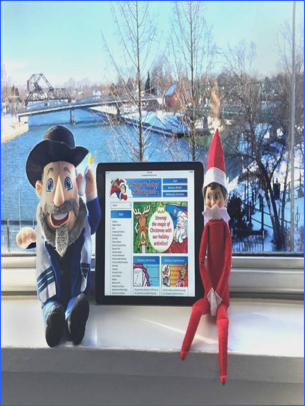 Our office Elf and Mensch are ing holiday worksheets crafts and puzzles from Super Teacher
