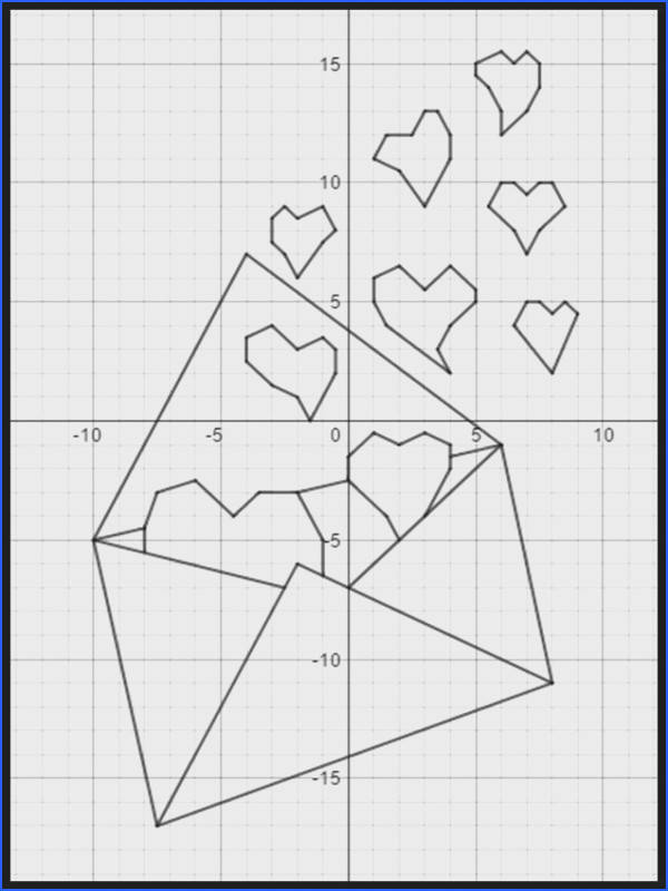 Love Letter A Valentine s Day Coordinate Graphing Activity