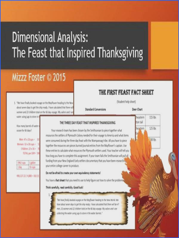 Dimensional Analysis The Feast That Inspired Thanksgiving Factor Label Method