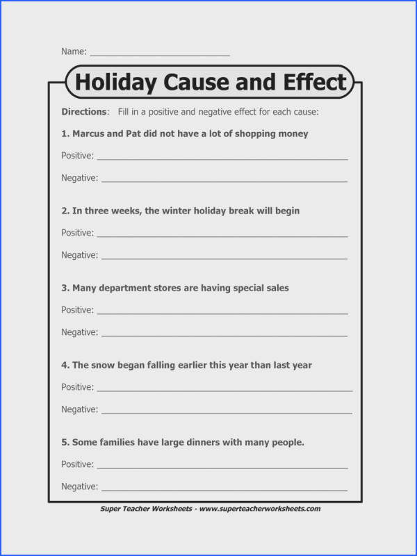 cause and effect worksheet Google Search