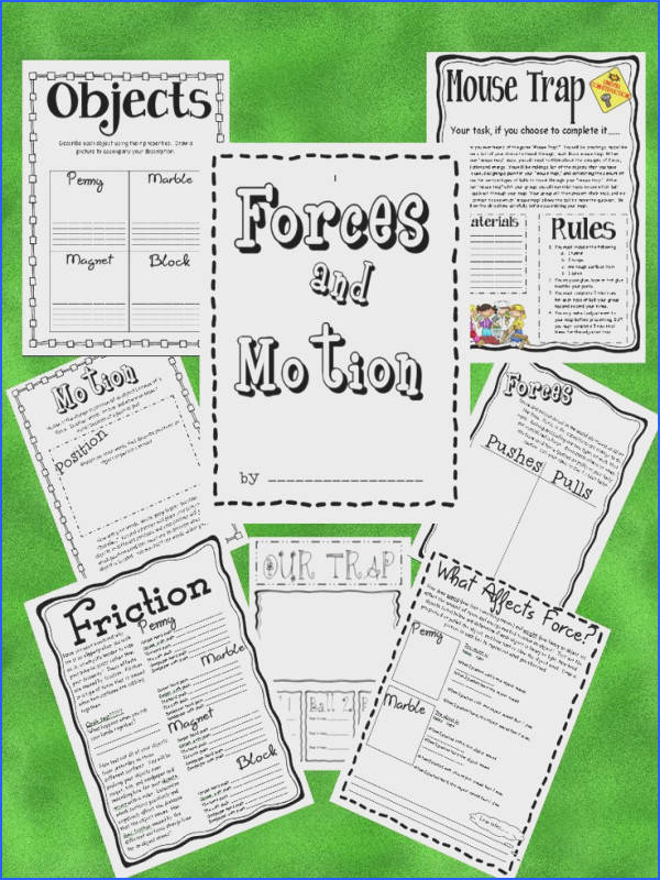 3 Teacher Chicks Fabulous Force and Motion packet with mouse trap activity