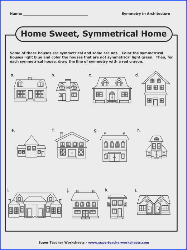 symmetry worksheet houses Google zoeken